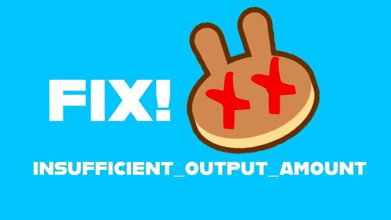 insufficient output amount